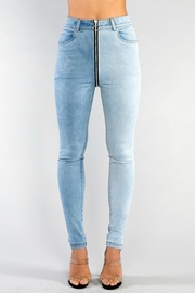 Pretty Little Things Zipper Front Jeans - Product Mini Image