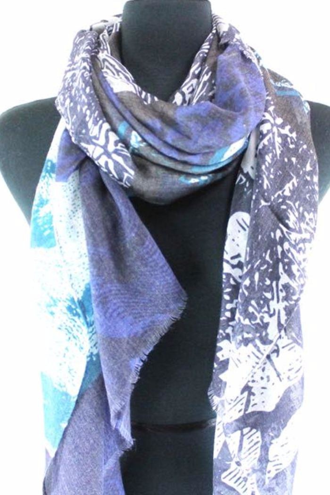 Pretty Persuasions Abstract Print Scarf - Front Full Image