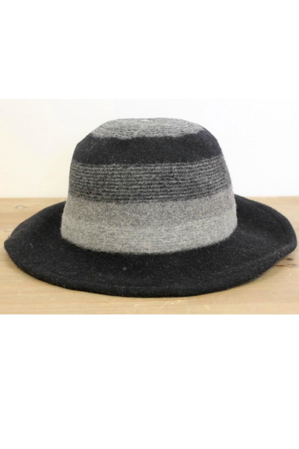 Pretty Persuasions Striped Brim Hat - Front Cropped Image