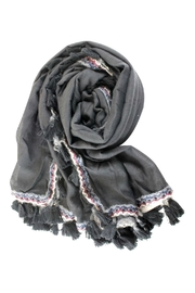 Pretty Persuasions Tassel Scarf - Front cropped