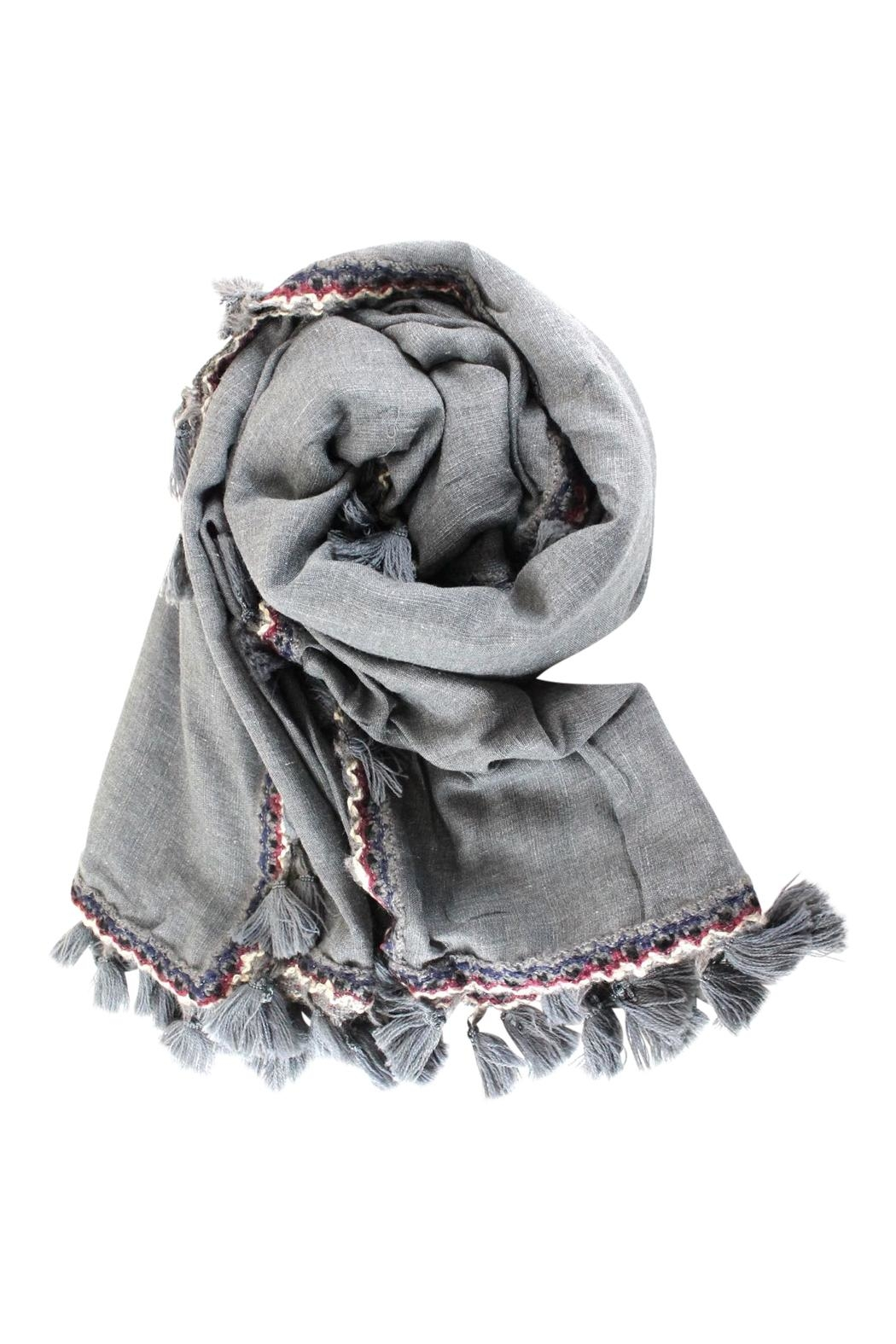 Pretty Persuasions Tassel Scarf - Front Cropped Image