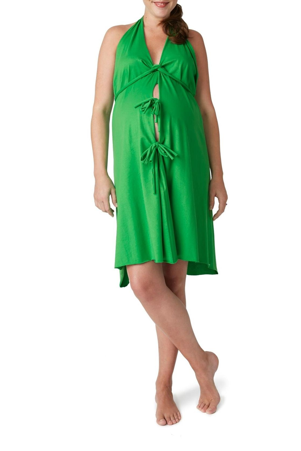Pretty Pushers Green Birthing Gown from Maryland by Barefoot Baby ...