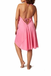 Pretty Pushers Halter Labor Gown - Front full body