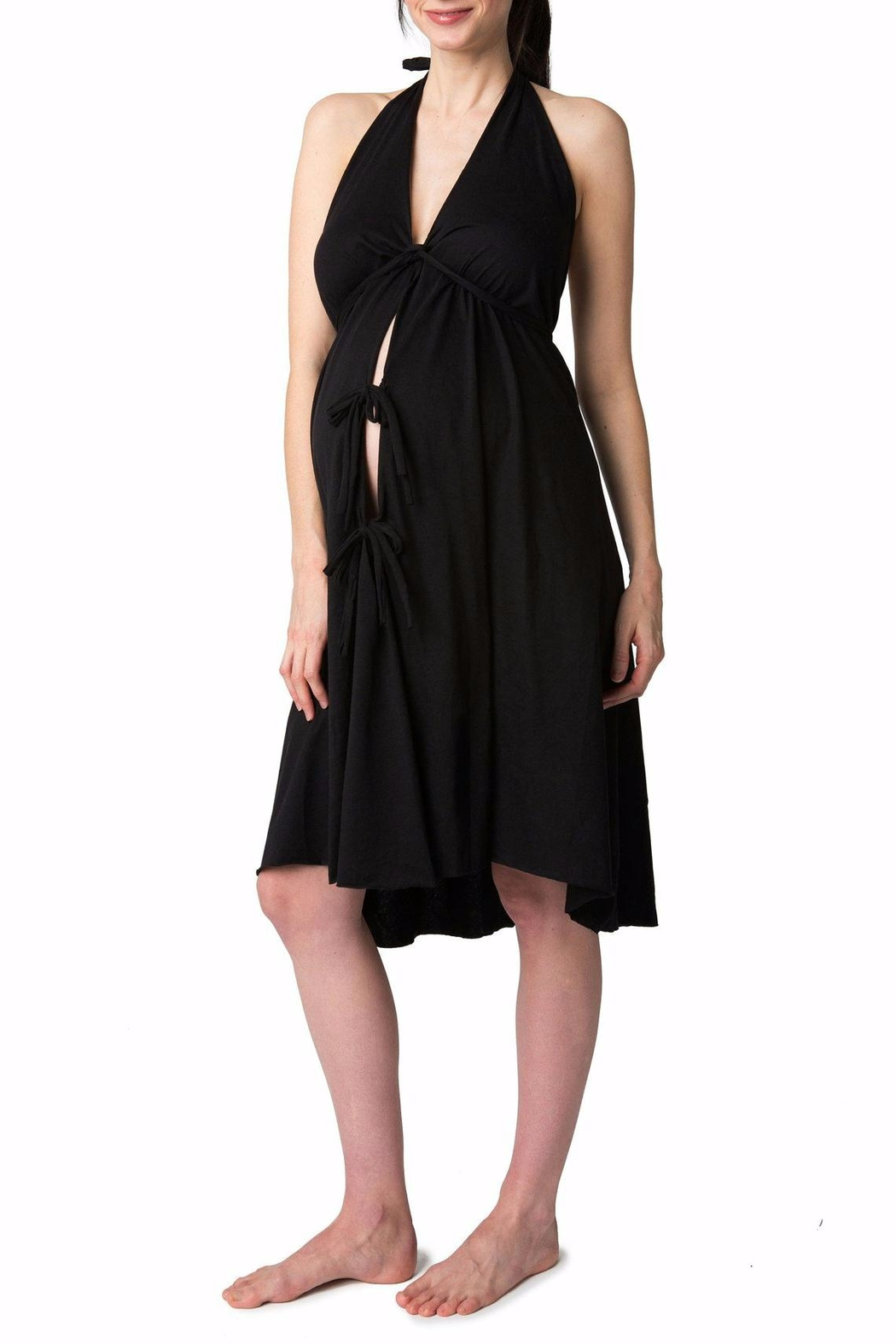 Pretty Pushers Labor Gown Plus - Front Full Image