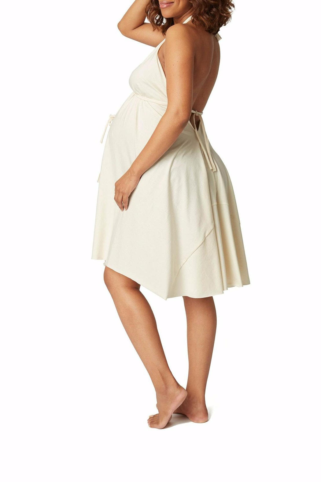 Pretty Pushers Unbleached Labor Gown - Front Cropped Image