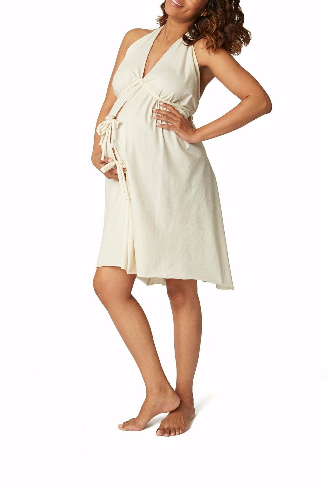 Pretty Pushers Unbleached Labor Gown - Main Image