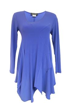 Pretty Woman Periwinkle Drape Tunic - Product List Image