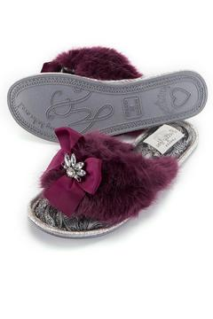 Shoptiques Product: Embellished Fluffy Slipper