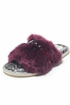 Shoptiques Product: Fluffy Embellished Slipper