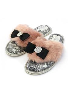 Shoptiques Product: Fuzzy Bow Slipper