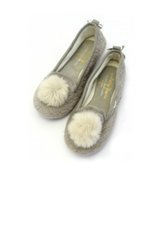 Pretty You London Grey Slippers - Alternate List Image