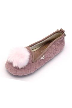 Shoptiques Product: Pompom Slip On Slipper