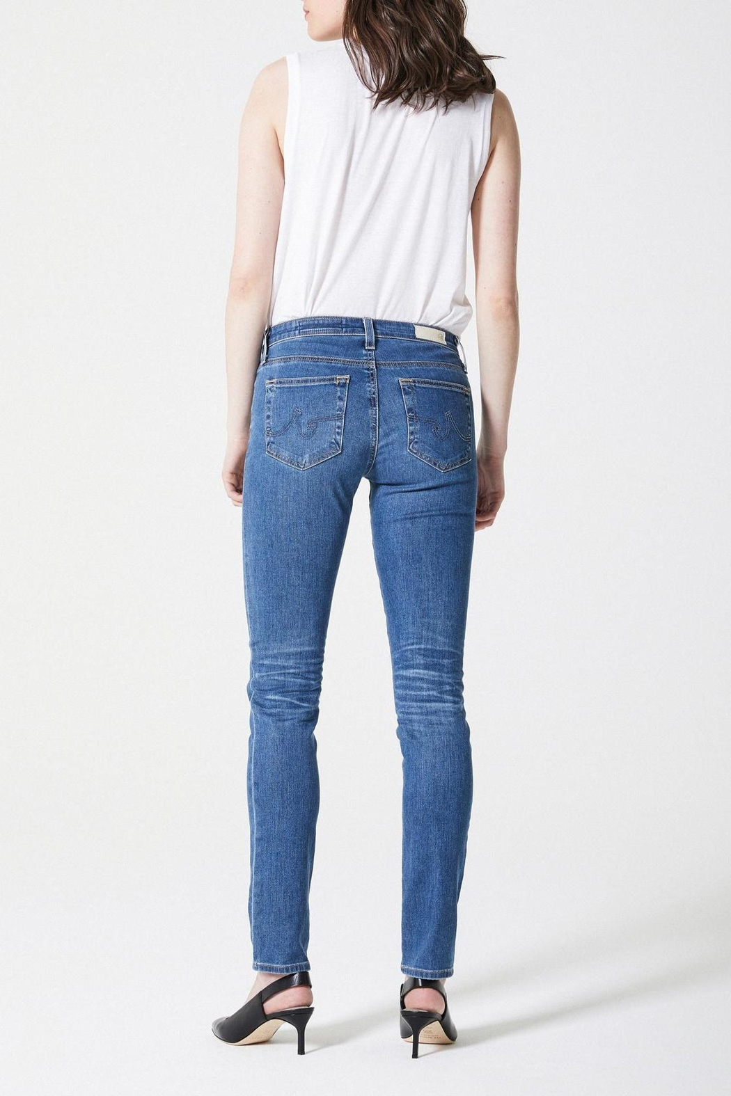 AG Jeans Prima Midrise Cigarette - Back Cropped Image