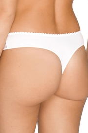 Prima Donna Embroidered Lace-Trim Thong - Side cropped