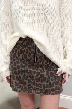 Hayden Primal Edge Leopard Mini Skirt - Product List Image