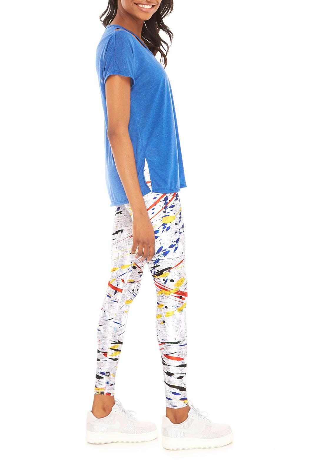 Terez Primary Paint Legging - Side Cropped Image