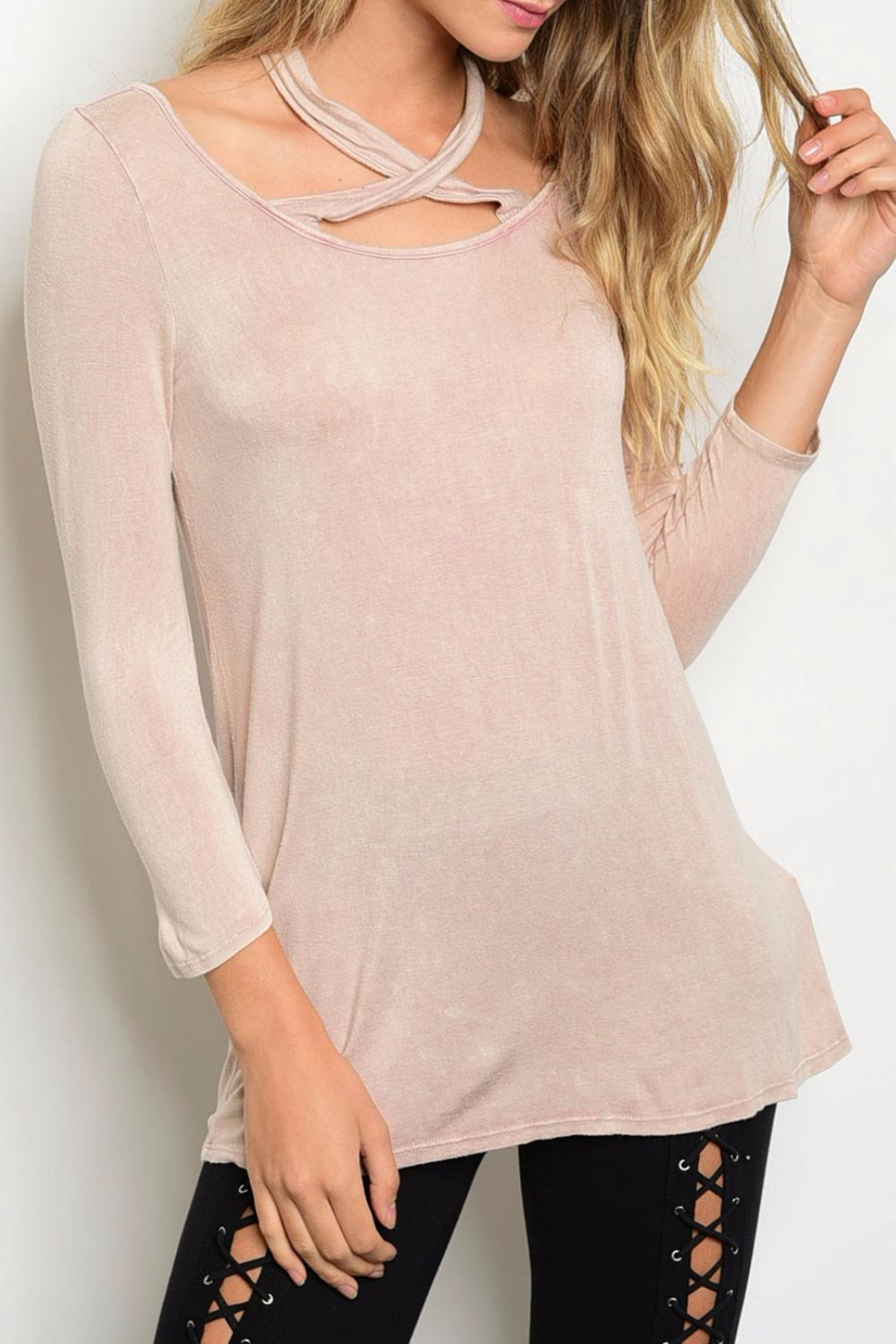 PRIMI Blush Crossed Top - Main Image