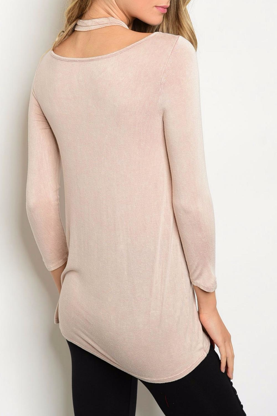 PRIMI Blush Crossed Top - Front Full Image