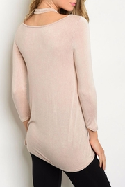PRIMI Blush Crossed Top - Front full body