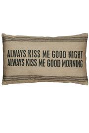 Primitives by Kathy Always Kiss Me Pillow - Product Mini Image