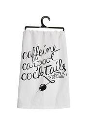 Primitives by Kathy Caffeine Carpool Cocktails Towel - Product Mini Image