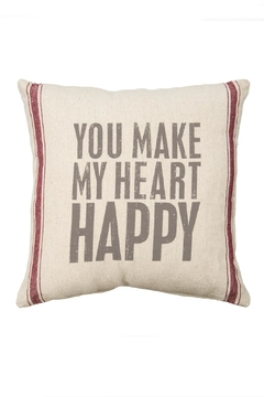 Primitives by Kathy Heart Happy Pillow - Alternate List Image
