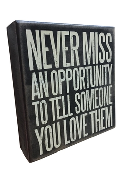 Shoptiques Product: Opportunity Box Sign