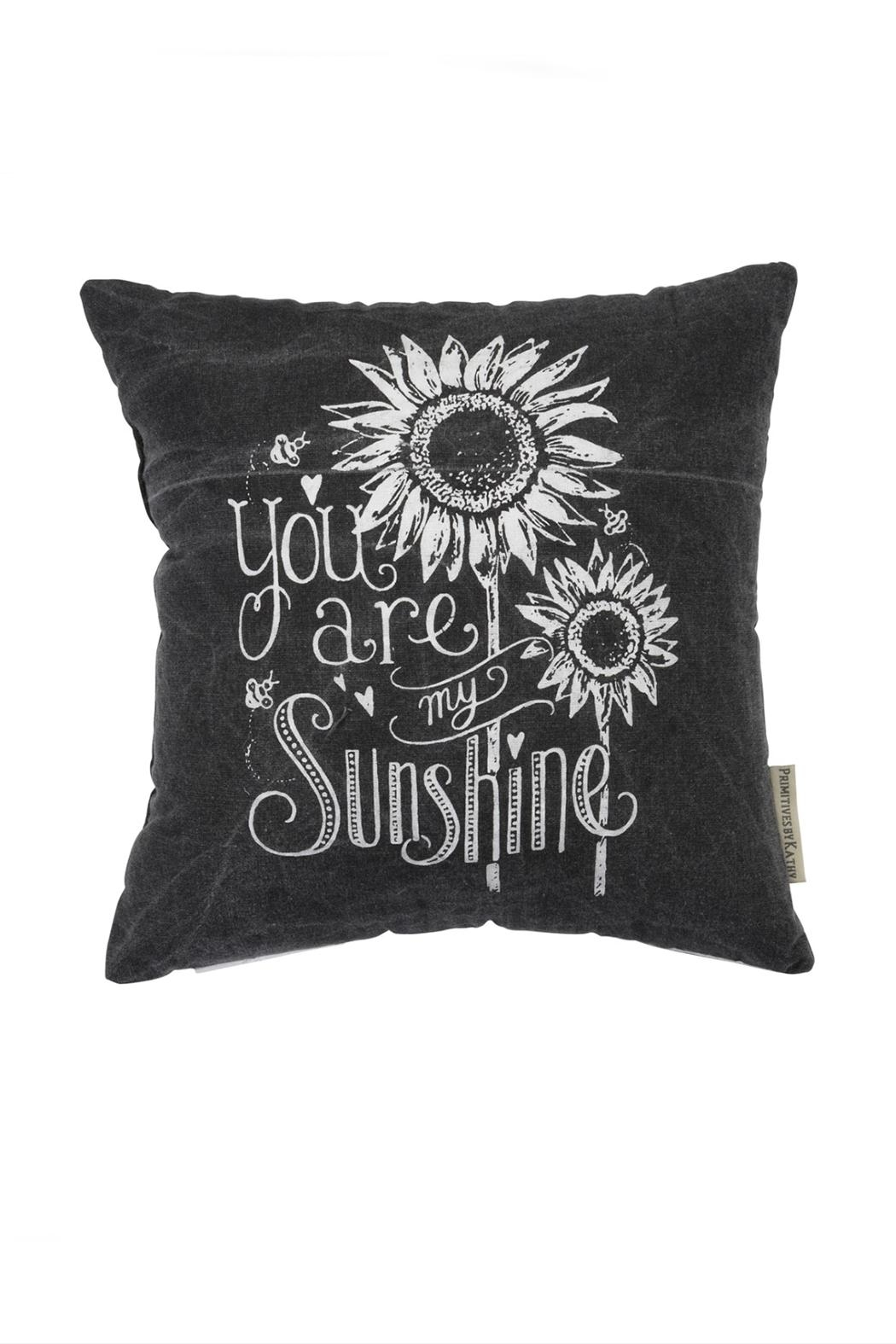 Primitives by Kathy Sunflower Sunshine Pillow - Front Full Image