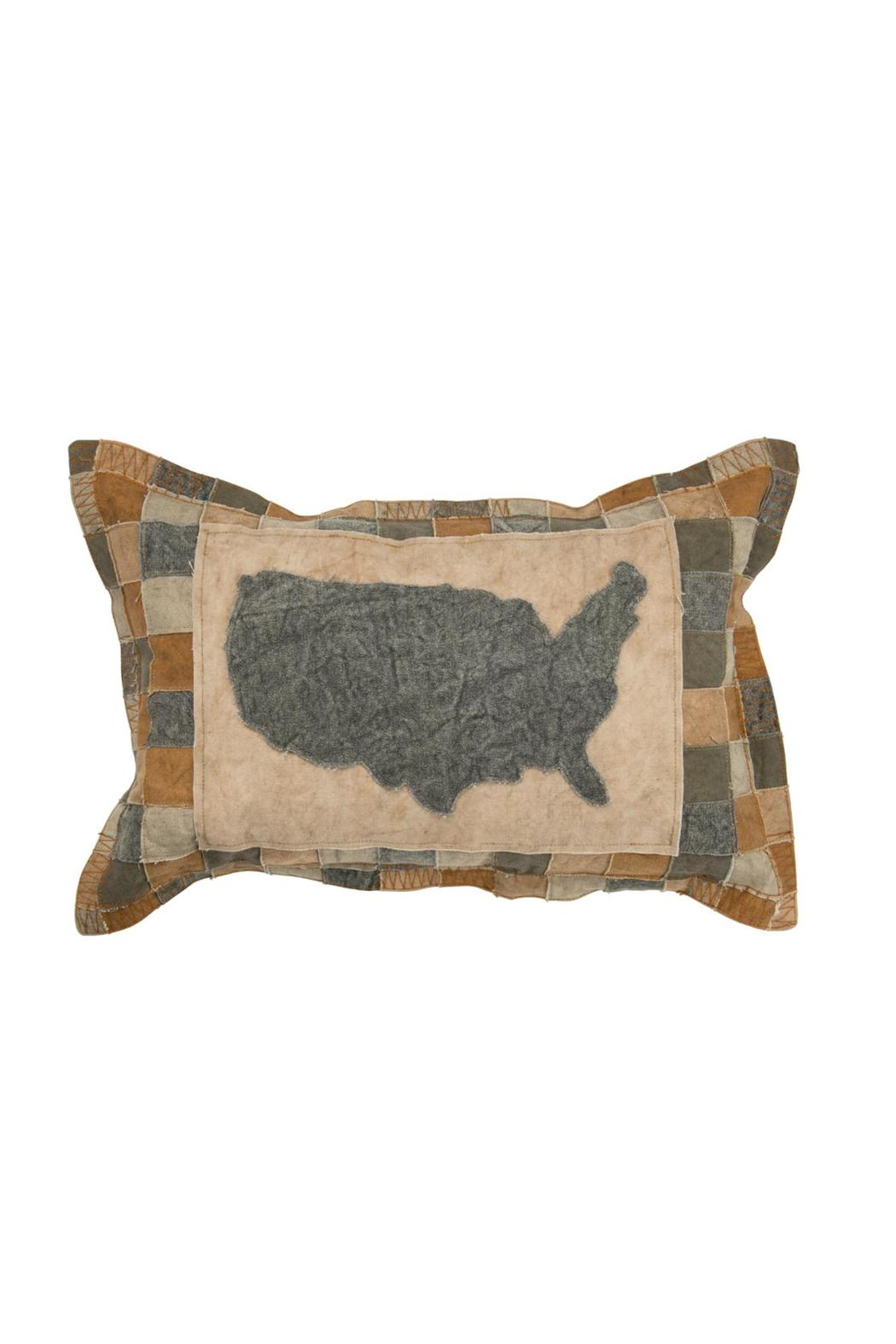 Primitives by Kathy Usa Gray Pillow - Main Image