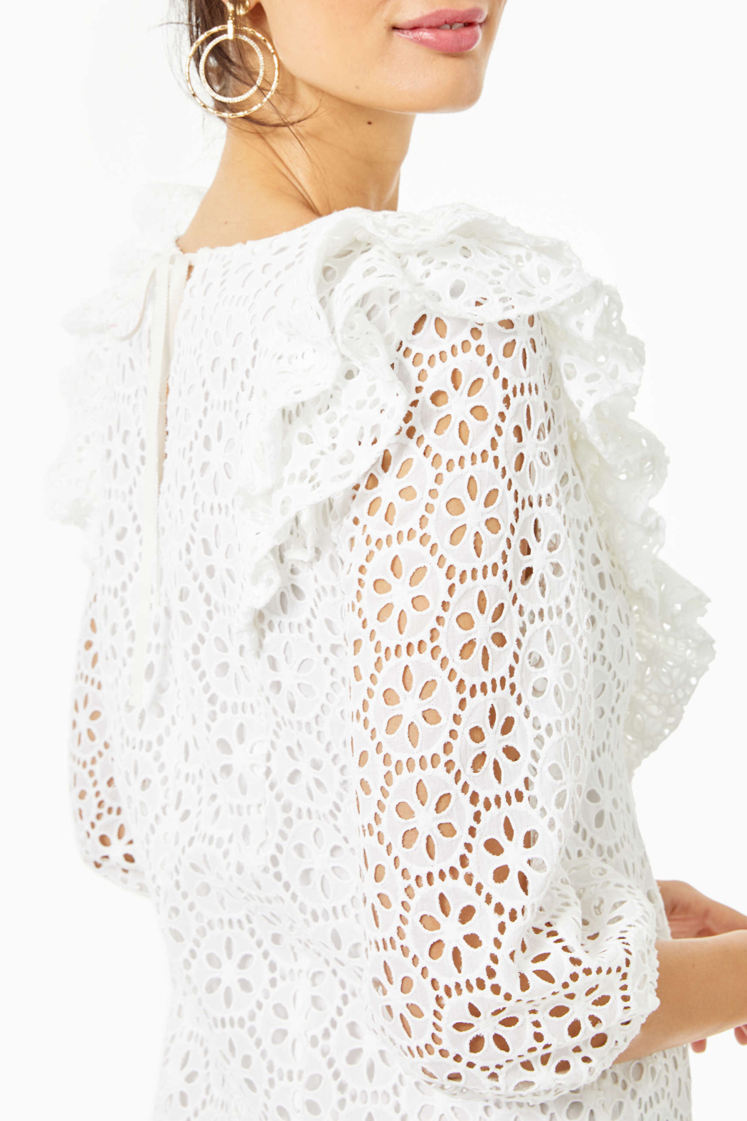 Lilly Pulitzer  Primm Eyelet Dress - Side Cropped Image