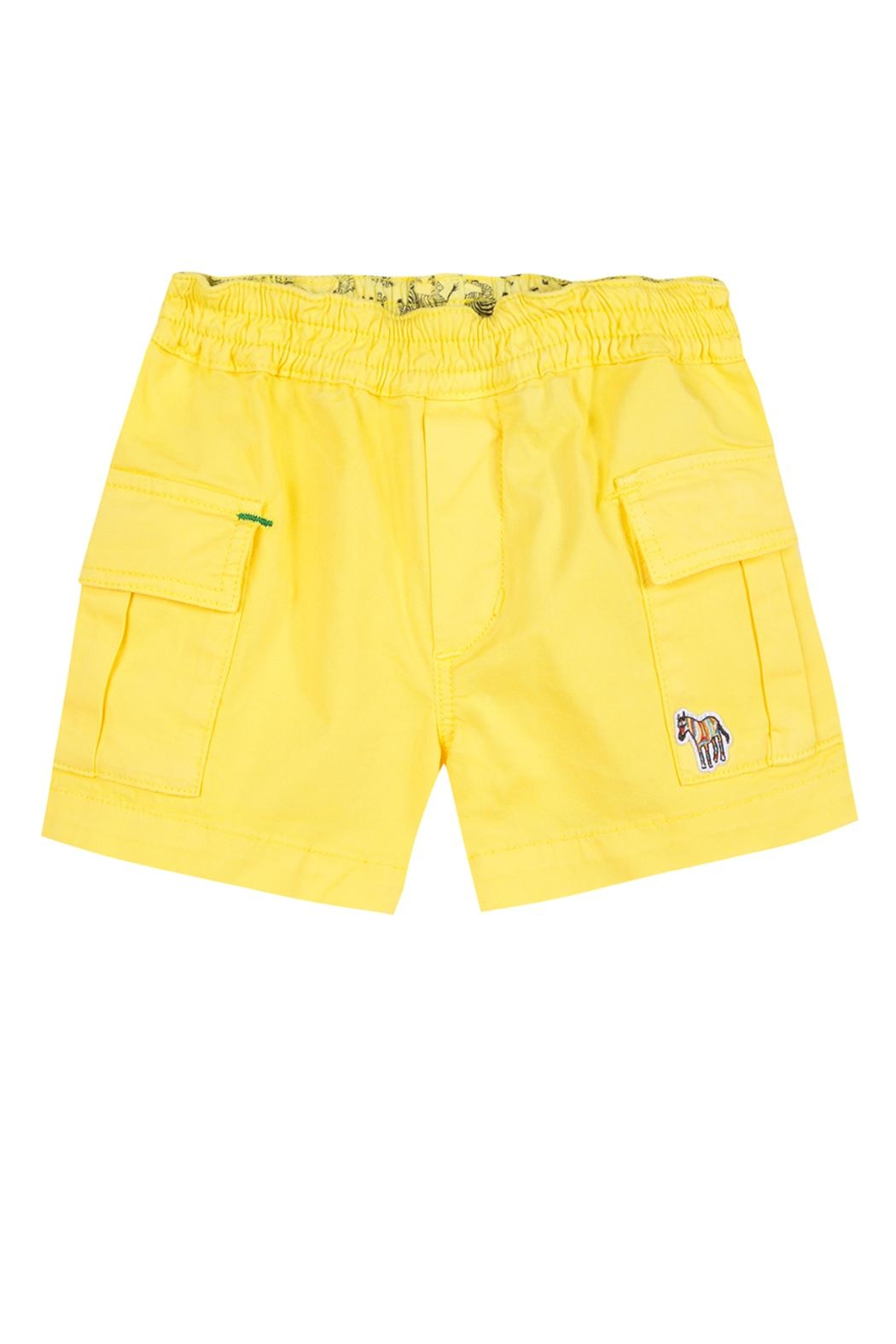 Paul Smith Junior Primrose-Yellow 'Toby' Shorts - Front Cropped Image