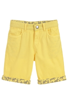 Paul Smith Junior Primrose-Yellow 'Trick' Shorts - Product List Image