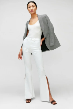 7 For all Mankind Prince High Slit Flare Jeans - Product List Image