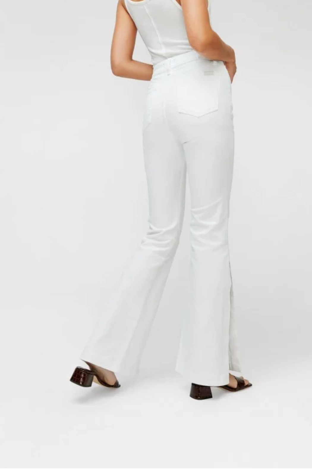 7 For all Mankind Prince High Slit Flare Jeans - Side Cropped Image