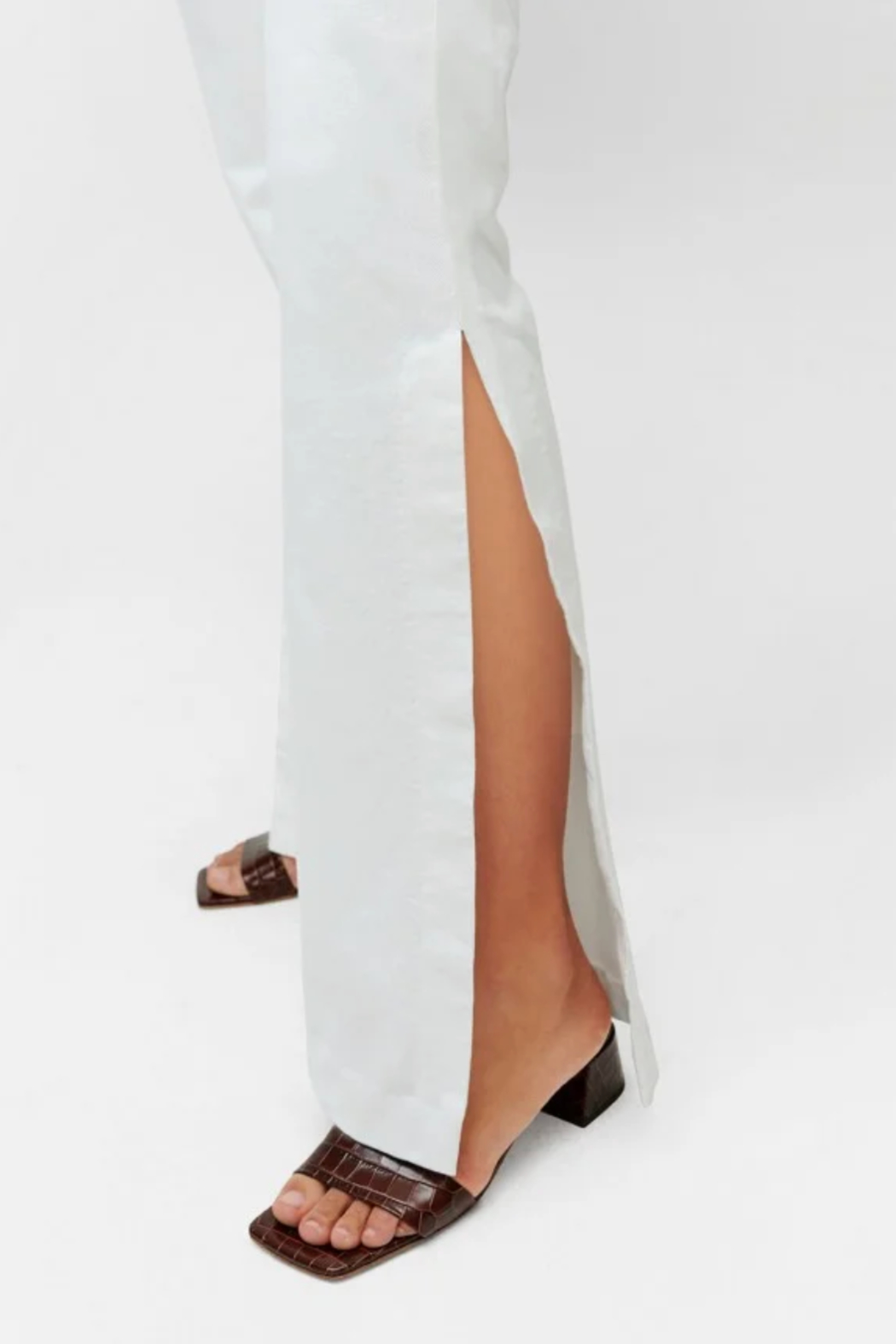 7 For all Mankind Prince High Slit Flare Jeans - Back Cropped Image