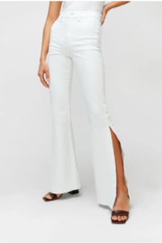 7 For all Mankind Prince High Slit Flare Jeans - Front full body