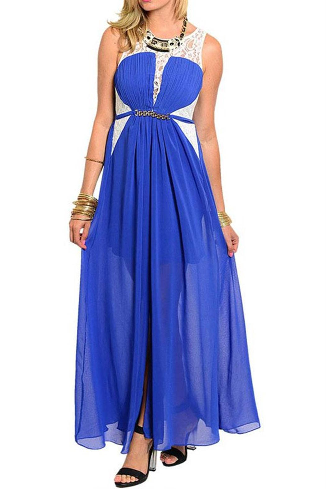 TED Princess Blue Maxi - Front Cropped Image