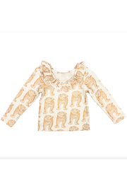 Pink Chicken Princess Diana Top Youth - Front full body