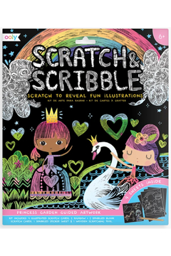 Ooly Princess Garden Scratch and Scribble Scratch Art Kit - Product List Image