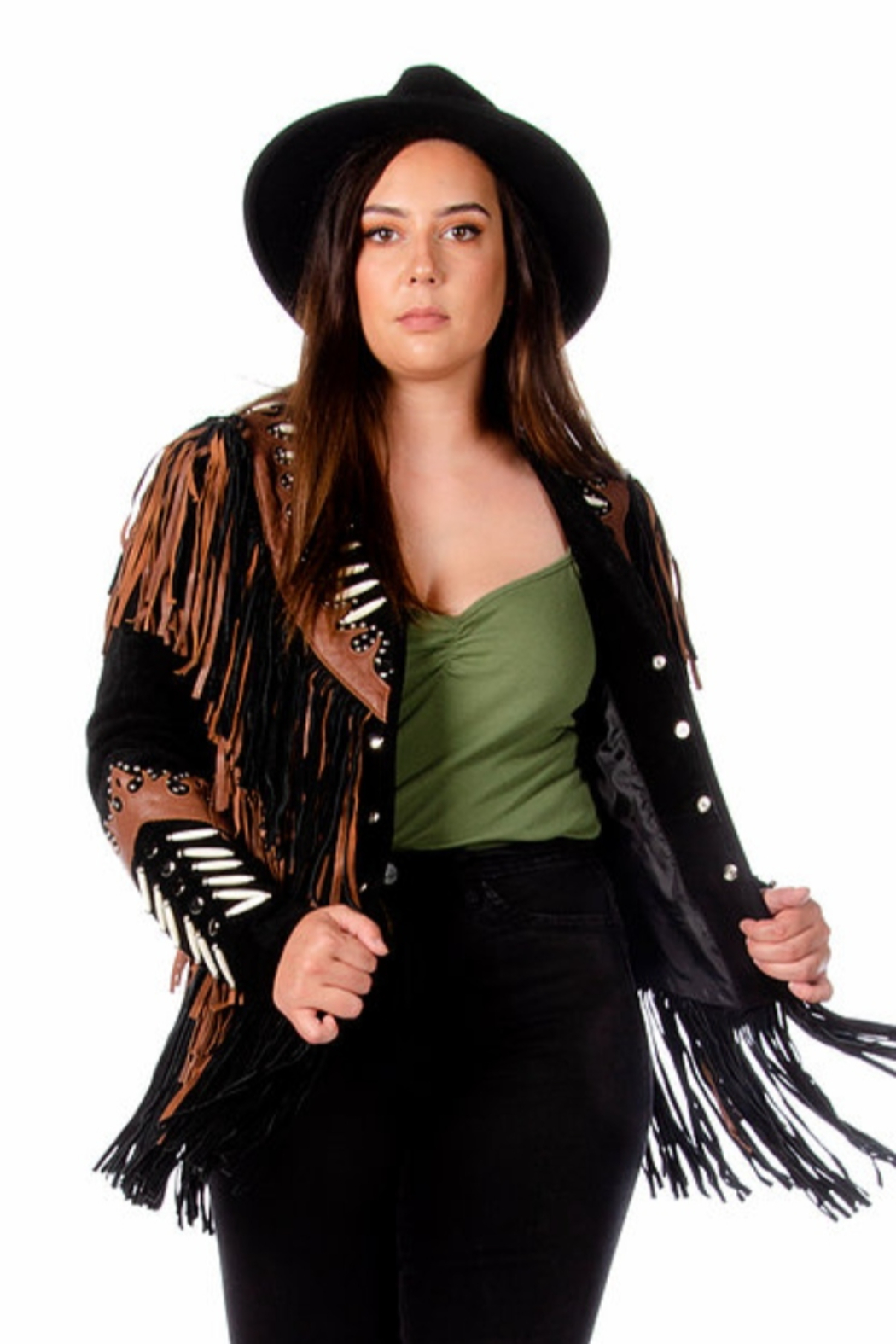 Liberty Wear Princess Leather Coat - Front Cropped Image