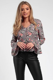 Princess Angel Star Button Floral Top - Product Mini Image