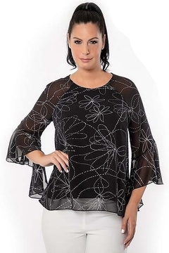 Bali print belle sleeved top - Product List Image