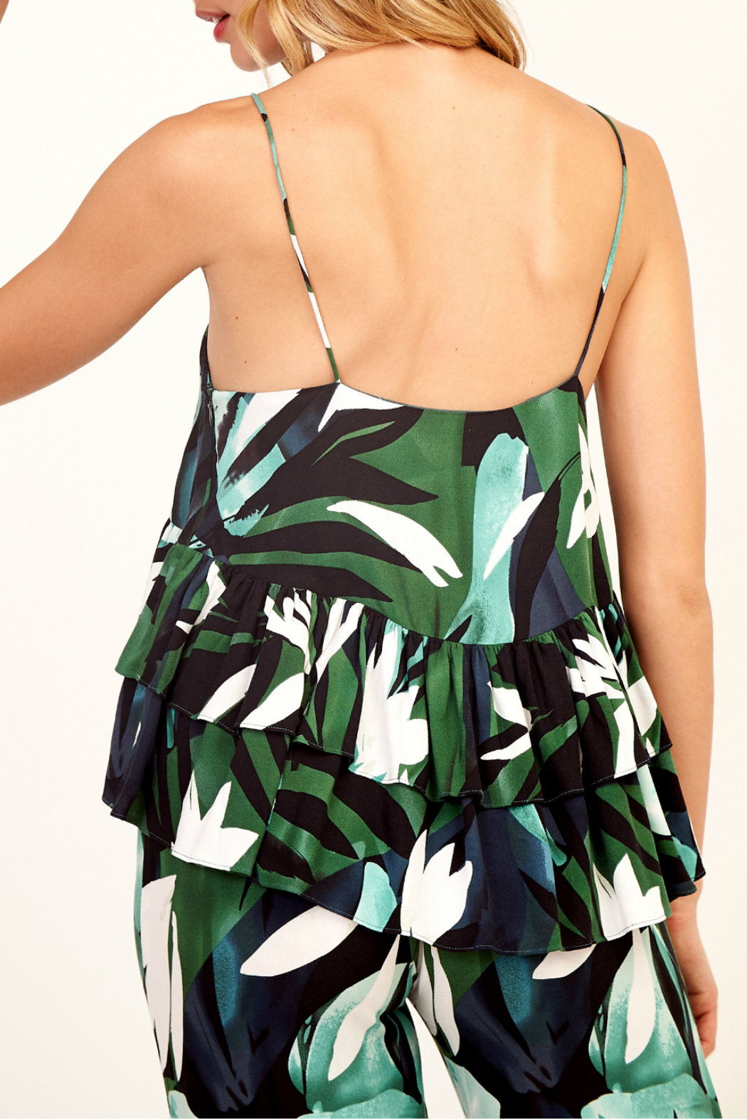 Olivaceous Print cami top - Side Cropped Image