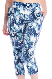 Michael Tyler Collections Print Capri Pants - Product Mini Image