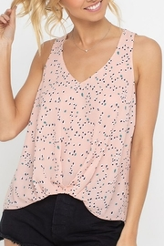 Lush  Print Cinch Hem Tank - Product Mini Image