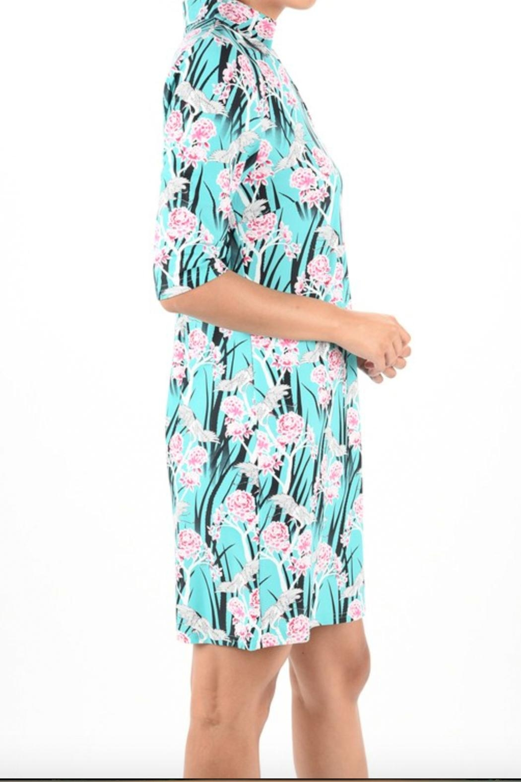Aryeh Print Collar Dress - Back Cropped Image