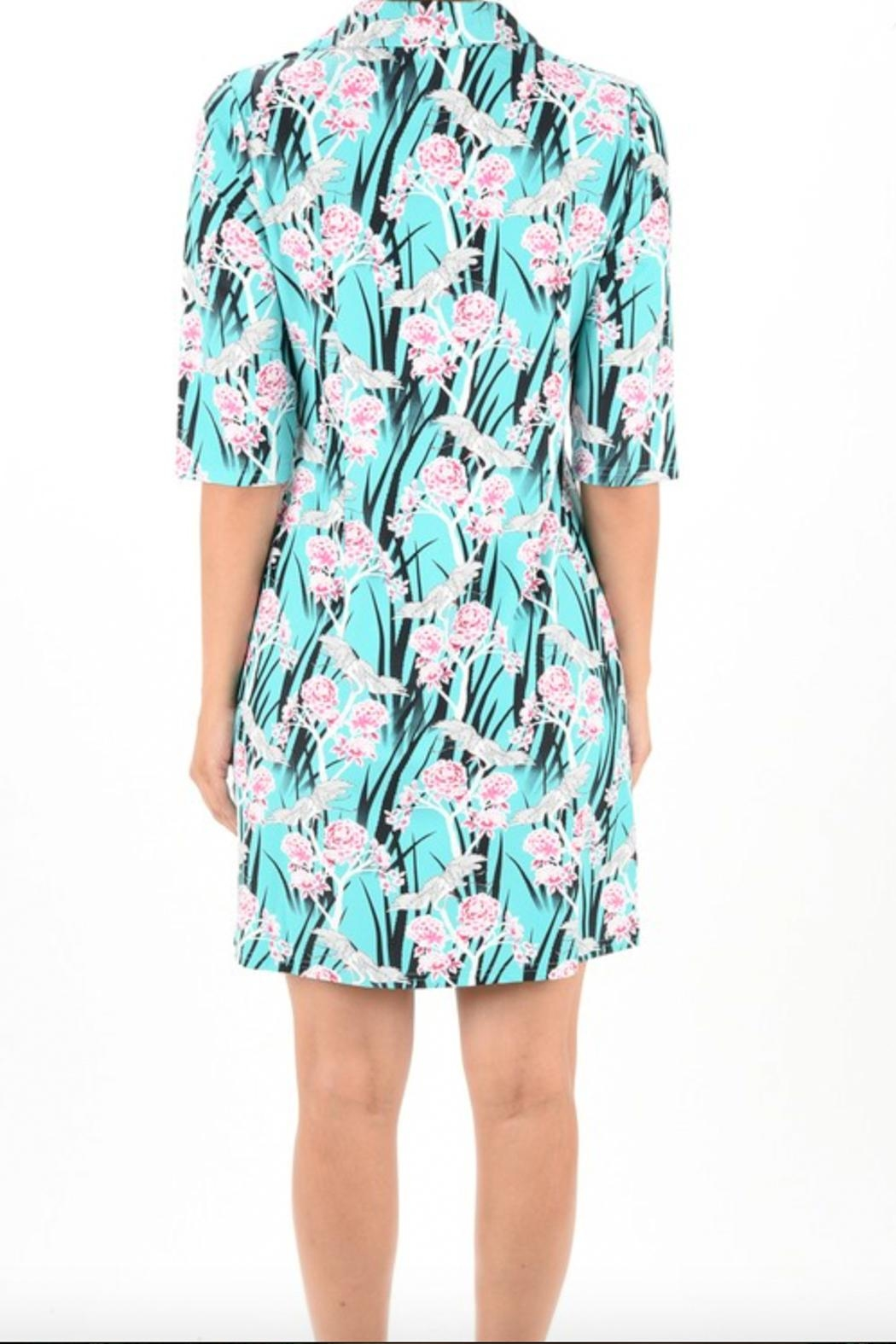 Aryeh Print Collar Dress - Front Full Image