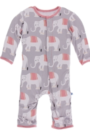 Kickee Pants Print Coverall with Snaps - Front cropped