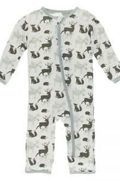 Kickee Pants Print Coverall with Zipper - Alternate List Image