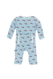 Kickee Pants Print Coverall with Zipper - Front full body